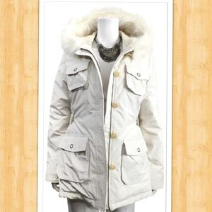 Banana Republic Ivory Down-Filled Puffer Jacket